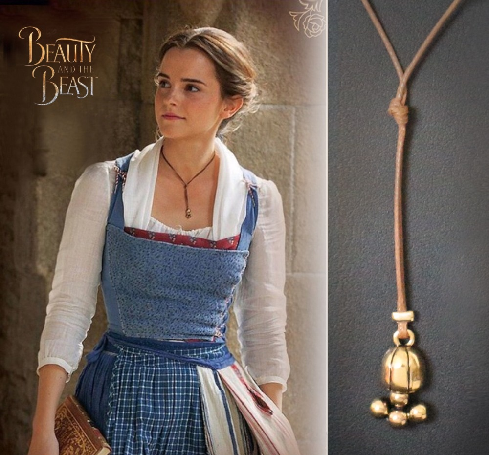 Belle Necklace Beauty And The Beast Leather Rope Marvel Goodies