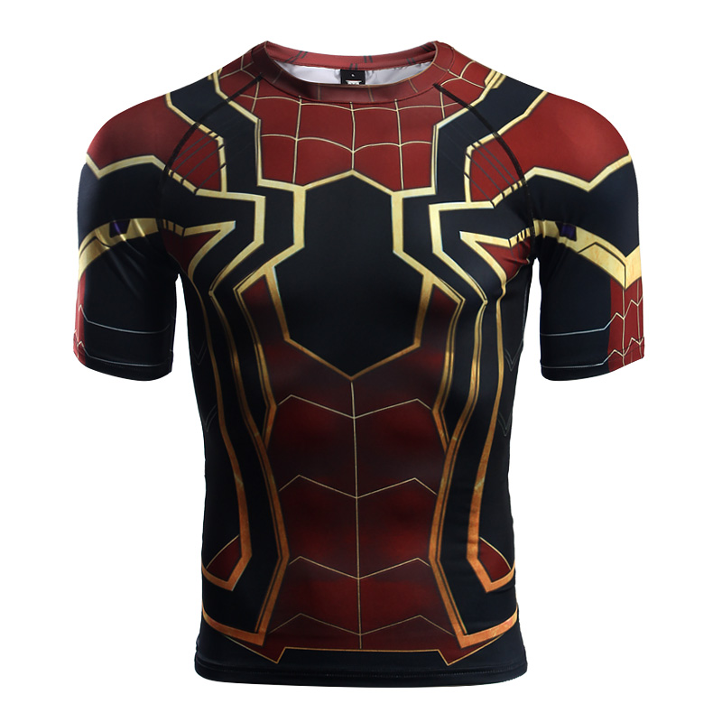 706a84213c042a Iron Spider-Man Men's Compression Shirt - Marvel Goodies
